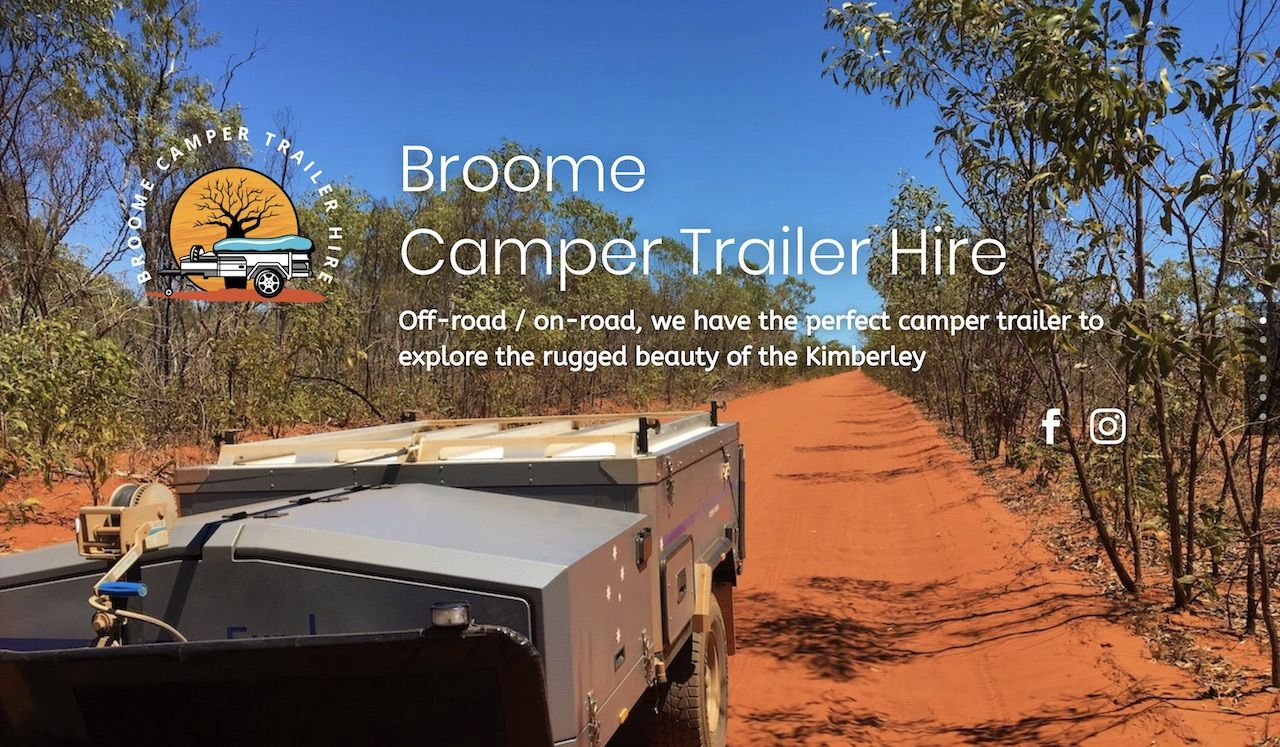 Broome Camper Trailer Hire - Landing page